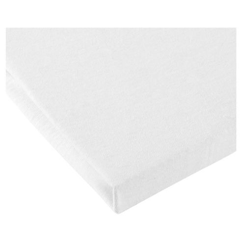 Tesco Loves Baby Moses Jersey Fitted sheet 2 pack - white