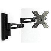 "Home Essence Double Arm Wall Mount for 13""-30"" LCD TV in Black"