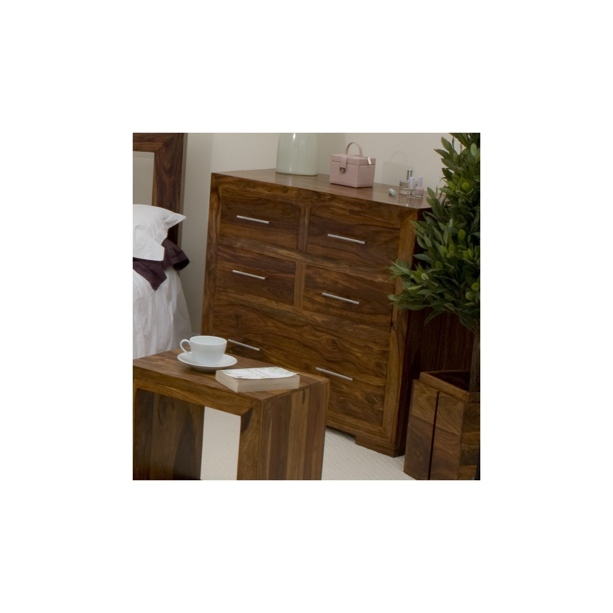 Elements Cubex Bedroom 4-Over-1 Drawer Chest in Warm Lacquer at Tesco Direct