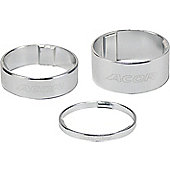 Acor 1.1/8inch Alloy Spacers: 10mm Silver. Set Of 10