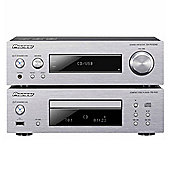 Pioneer XC-P01DAB Compact HiFi System with CD, iPod/iPhone Playback, DAB Radio, Silver