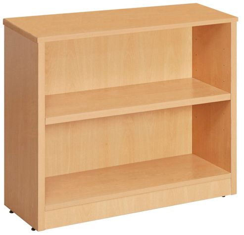 WoodstockLeaBank Fraction Bookcase - 80cm H x 80 cm W - Beech