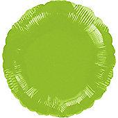 Lime Green Round Balloon - 18' Foil (each)