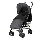 Obaby Atlas Black & Grey Stroller with Grey Footmuff/Grey Hood