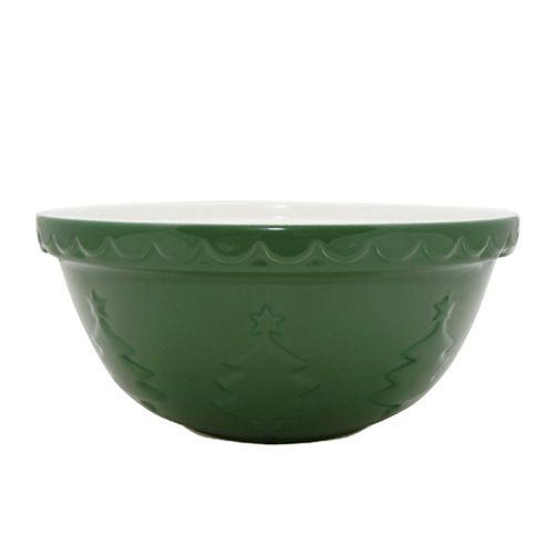 Mason Cash Christmas Tree Green Mixing Bowl, 29cm