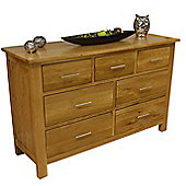 Oakland Chunky Oak 3 Over 4 Chest Of Drawers