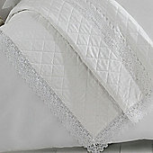 Holly Willoughby 'Henrietta' White Lace Quilted Throw, 150 x 220 cm