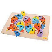 Bigjigs Toys BJ516 Alphabet Dragon Puzzle