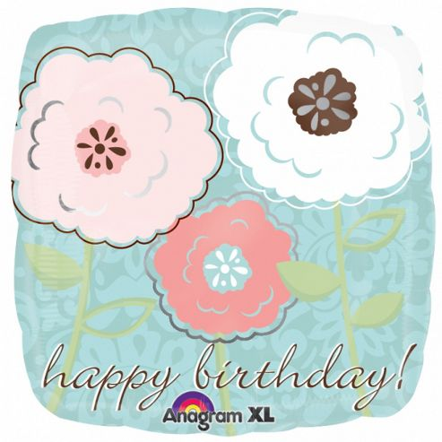 Party - Anagram - 18/45cm Flowers Birthday Foil Balloon - 19923 - Amscan