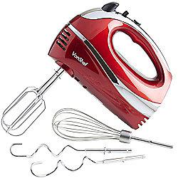 VonShef 300W Hand Mixer - Red