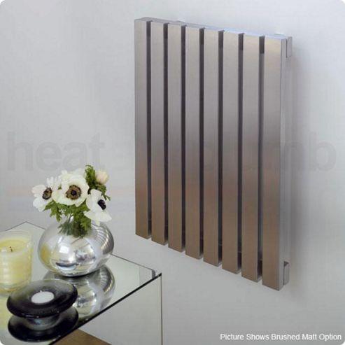 Aeon Ararat Stainless Steel Designer Radiator 500mm High x 390mm Wide
