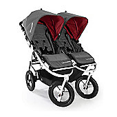 Bumbleride Indie Twin Stroller (Fog Grey) - FREE Raincover
