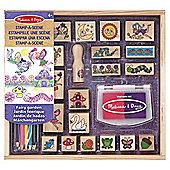 Wooden Stamp Set - Stamp A Scene - Fairy Garden - Melissa & Doug