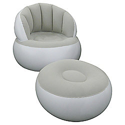 Tesco Inflatable Lounge Chair Grey