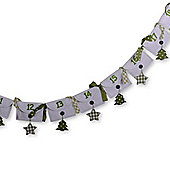 Christmas Advent Calendar Washing Line Design Decoration With Numbered Envelopes