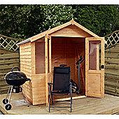7ft x 5ft Overlap Summerhouse + Double Doors 7 x 5 Garden Wooden Summerhouse 7x5