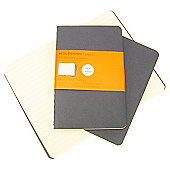 Moleskine Cahier Ruled Pocket 3 Pack Blue Cover