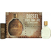 Diesel Fuel For Life Gift Set 30ml EDT Spray + 50ml Shower Gel For Men