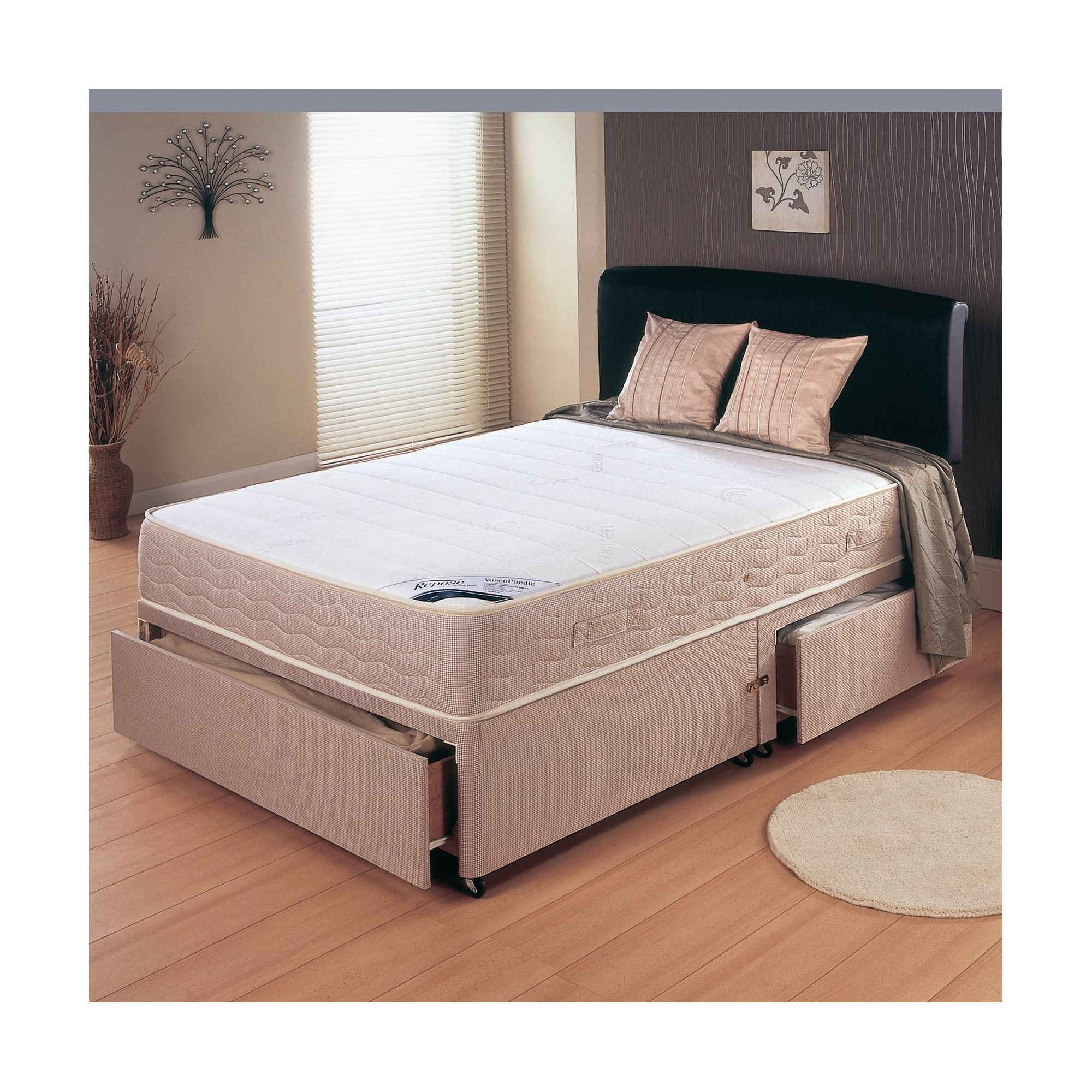 Repose Memory Pocket 800 Platform Set - Small Double/Double / 2 Drawer at Tesco Direct