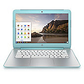 "HP 14-x020na 14"" Chromebook (NVIDIA Tegra K1 Processor, 2GB RAM, 16GB eMMC, Google Chrome) - Turquoise"