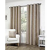 Pippa Ready Made Curtains Pair, 66 x 72 Mink Colour, Modern Designer Look Eyelet curtains