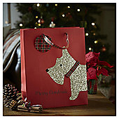 Large Scottie Dog Christmas Gift Bag