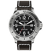 Grayton Comet.Jet Mens Leather Date Watch GR-0014-003.1