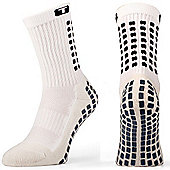 Trusox Mid-Calf Sock Thin - White