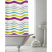 PEVA Shower Curtain Striped - Multi