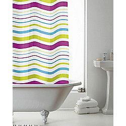 PEVA Shower Curtain Striped