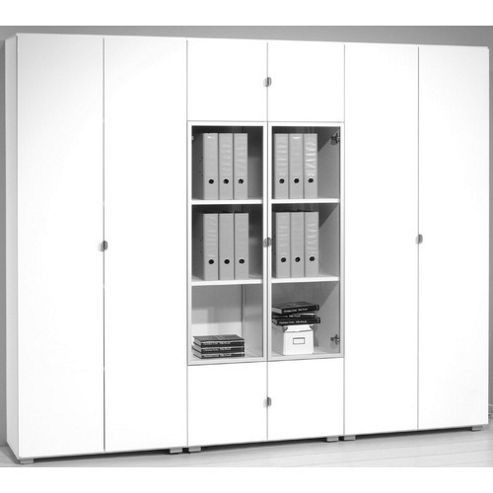 Bush Wall Unit with Doors - Core Ash Textured