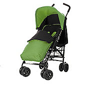 Obaby Atlas Black & Grey Stroller with Lime Footmuff/Lime Hood