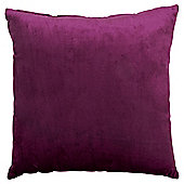 Purple Faux Velvet Cushion