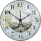 Roger Lascelles Clocks Eiffel Tower Parris 1889 Wall Clock