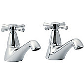 Ultra Riva Basin Taps in Chrome