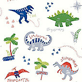 Dino Doodles Wallpaper - Multi - Arthouse 667500