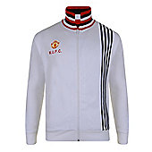 Man Utd 1977 Away Track Jacket - Red & White