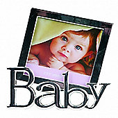 Metal Square Baby Photo Frame - Silver