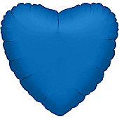 Blue Heart Balloon - 32' Metallic Foil (each)