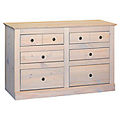 Home Essence Pembroke 3 Over 3 Drawer Wide Chest