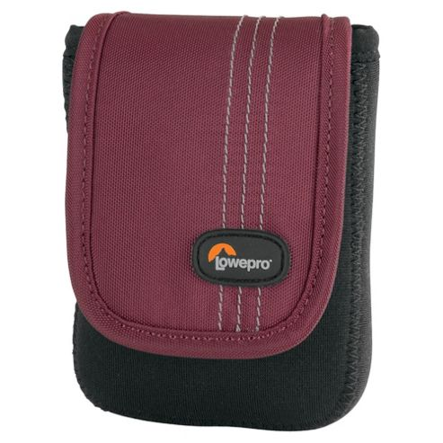 Lowepro Dublin 20 compact Camera Case, Black/Red