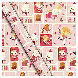 Chilly Fairy Christmas Wrapping Paper Pink, 10m