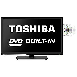 Toshiba 24D1533 24 Inch DVD Combi HD Ready 720p LED TV / DVD Combi with Freeview