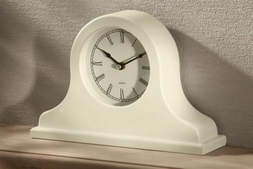 Premier Housewares Mantle Clock - Cream