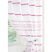 Ribbon Voile Curtain Panel - Purple