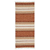 Swedy Ljung Orange / White Rug - Runner 60 cm x 180 cm (2 ft x 5 ft 11 in)