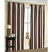 Twilight Ready Made Blackout Pencil Pleat Curtains Navy, Green, Red & Natural - Brown