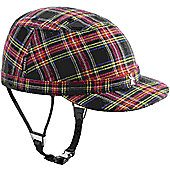 YAKKAY Paris Blue Red Check Helmet: Medium (55-57cm).