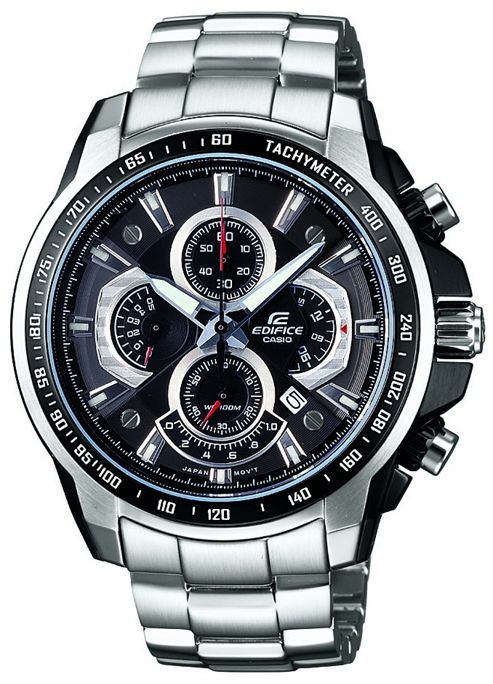 Casio Gents Edifice Alarm Bracelet Chronograph Watch EF-560D-1AVEF