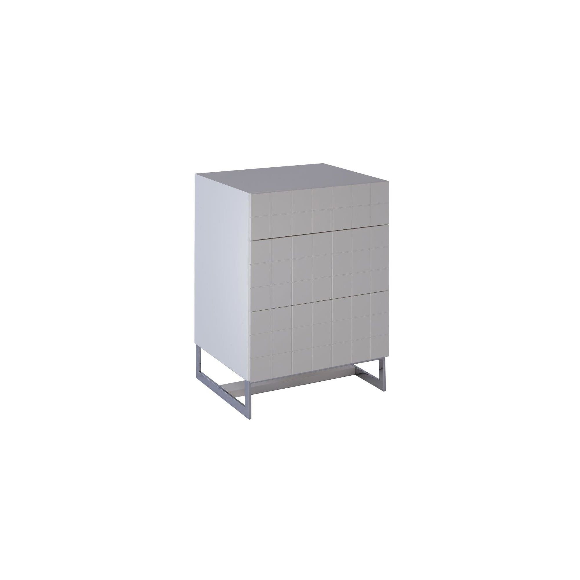 Gillmore Space Barcelona 3 Drawer Chest - White Lacquer (Matt) at Tesco Direct